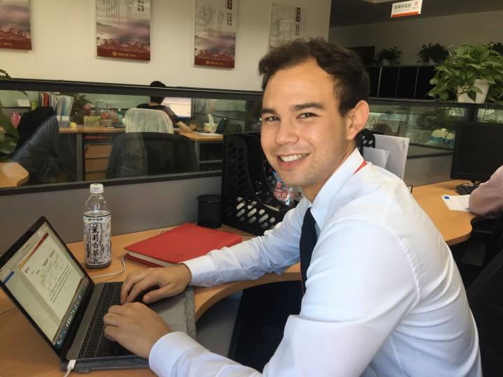 Justin Robbins at Hainan Airlines Office