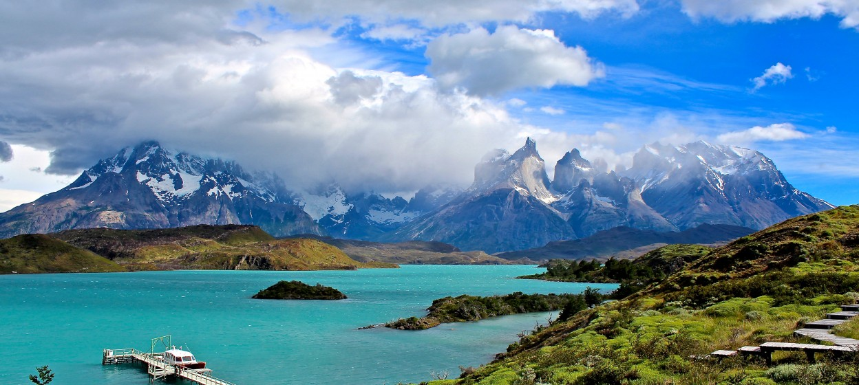 Mountains and lake in Chile