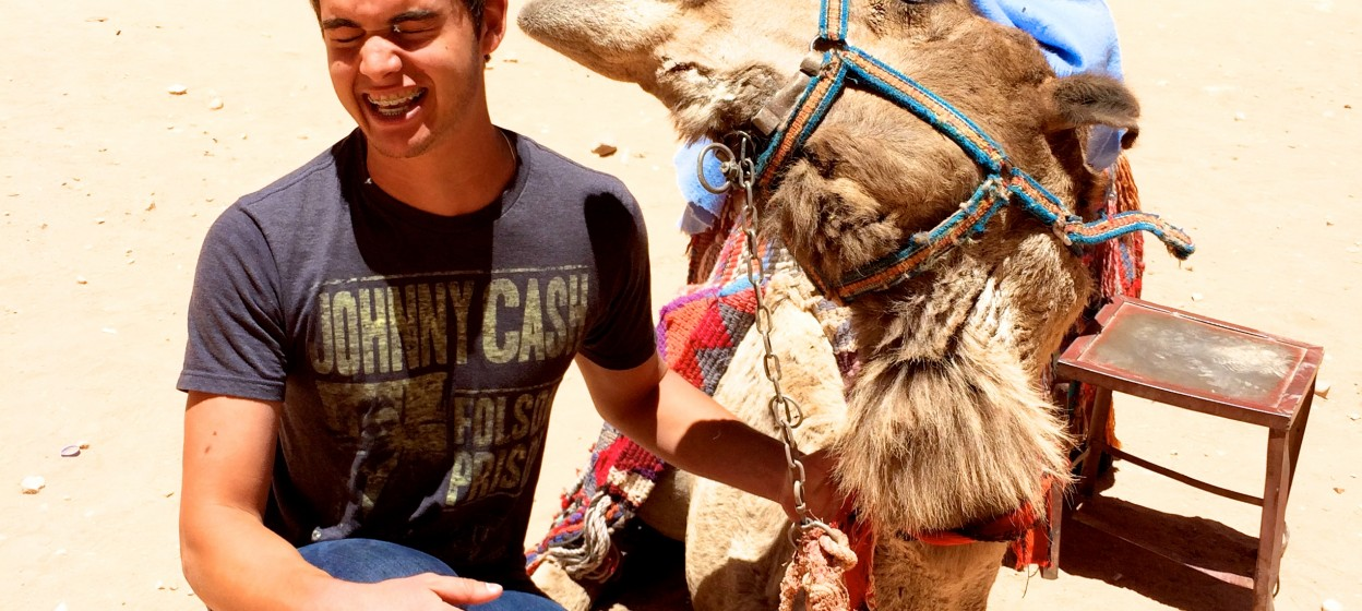 Student with camel