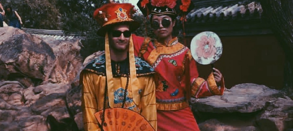 Students in Traditional Garb