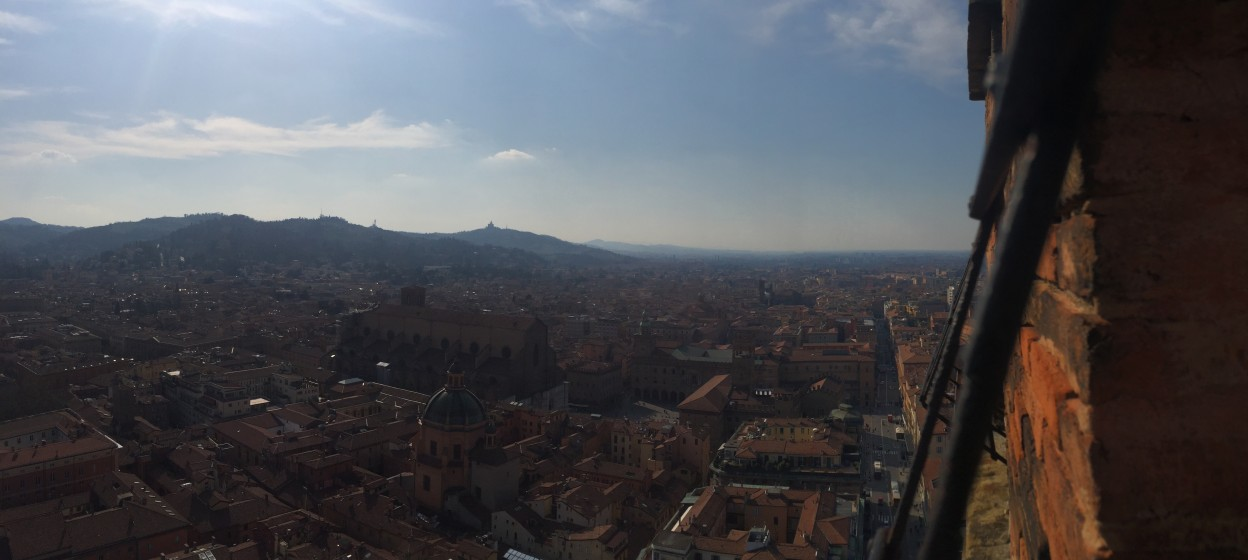 Overlooking buildings in Bologna, Italy