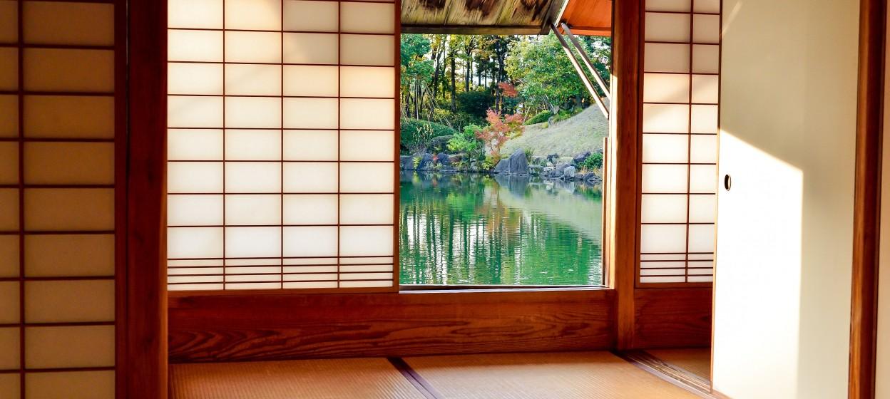 Kyoto Brown Wooden Door