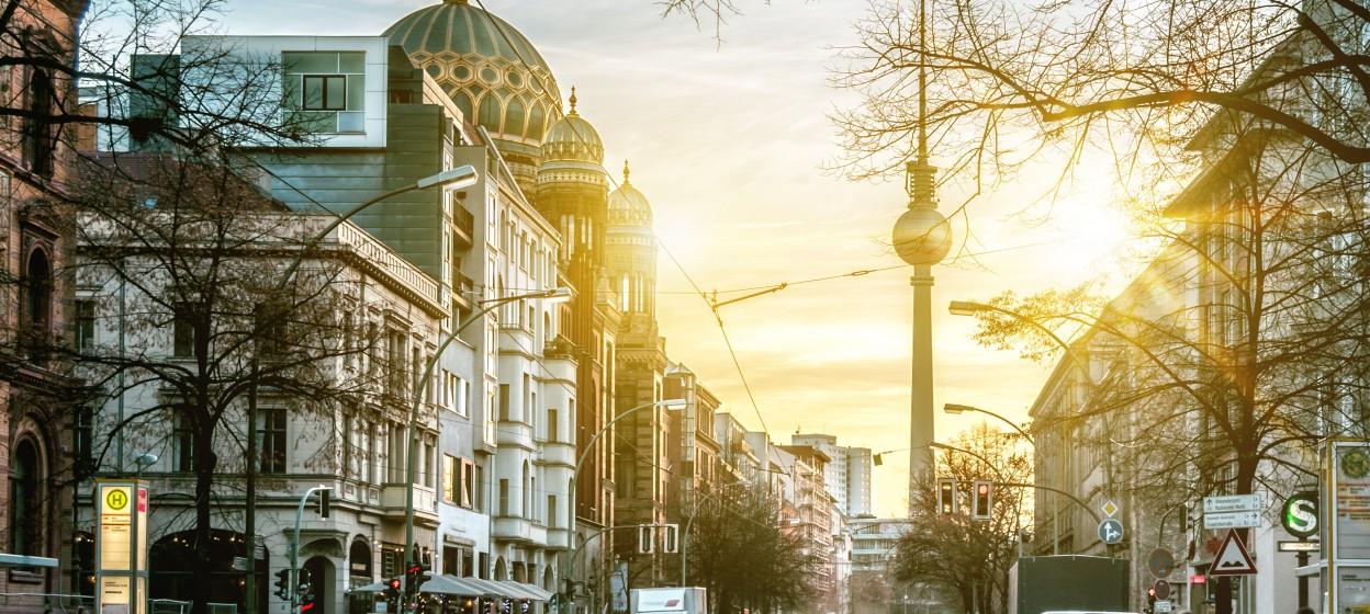 Berlin Sunrise looking at Fernsehturm