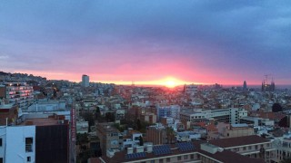 Sunrise over Barcelona